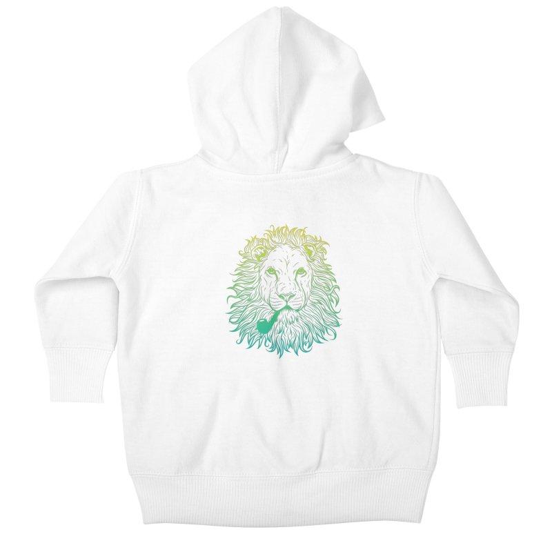 Lionize Me!! Kids Baby Zip-Up Hoody by deonic's Artist Shop