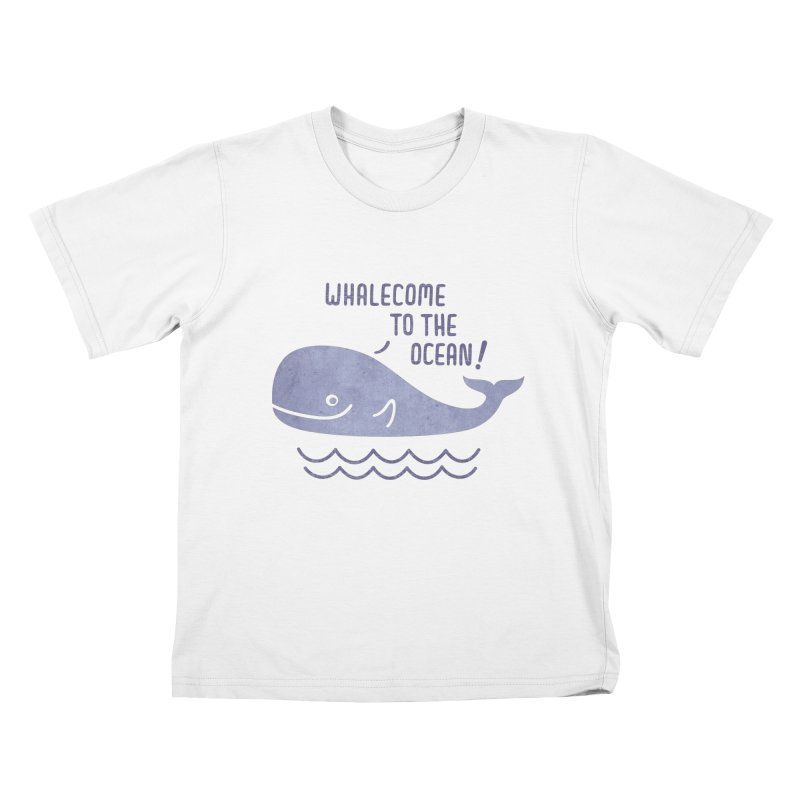 Whalecome to the Ocean Kids T-Shirt by deonic's Artist Shop