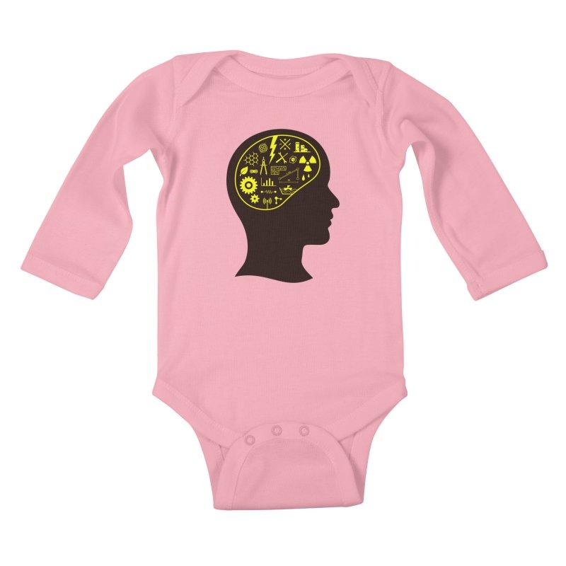Engineering Mind Kids Baby Longsleeve Bodysuit by deonic's Artist Shop