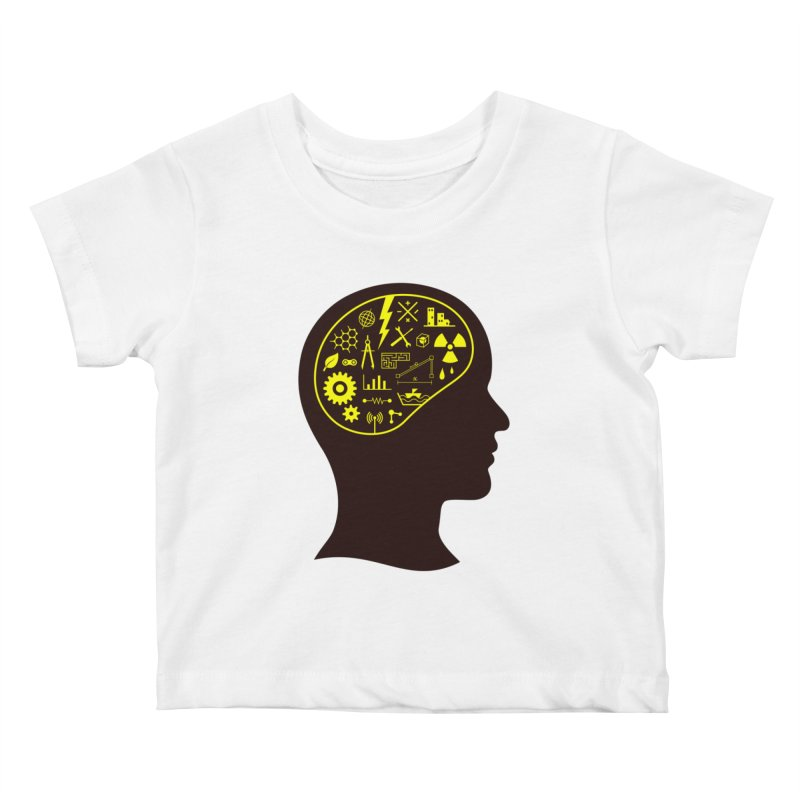 Engineering Mind Kids Baby T-Shirt by deonic's Artist Shop