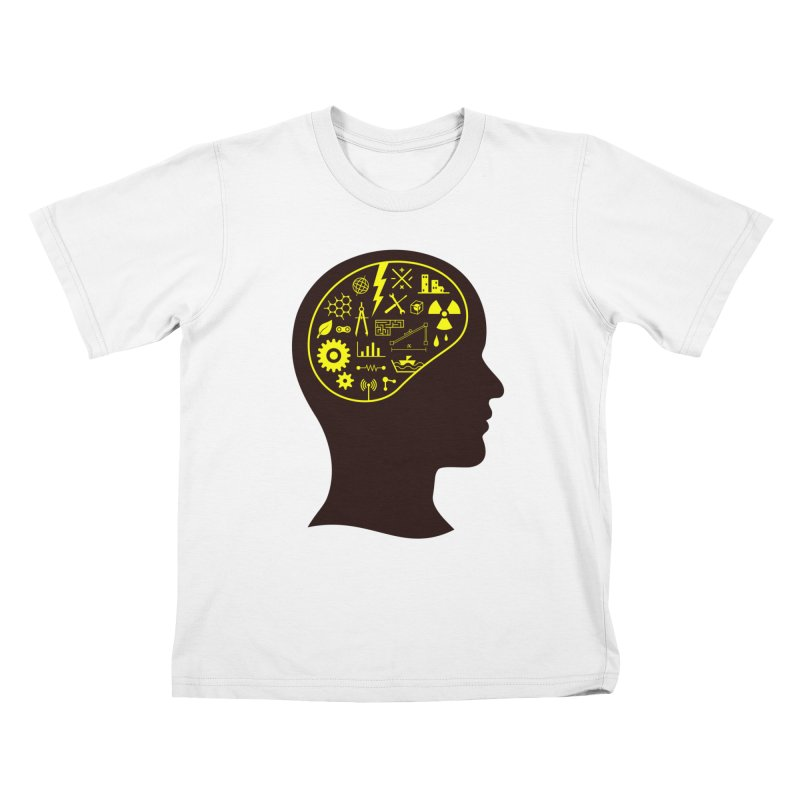 Engineering Mind Kids T-Shirt by deonic's Artist Shop