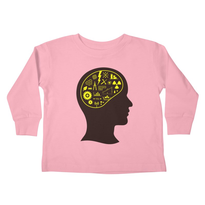 Engineering Mind Kids Toddler Longsleeve T-Shirt by deonic's Artist Shop