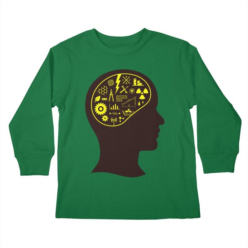 Engineering Mind Kids Longsleeve T-Shirt by deonic's Artist Shop