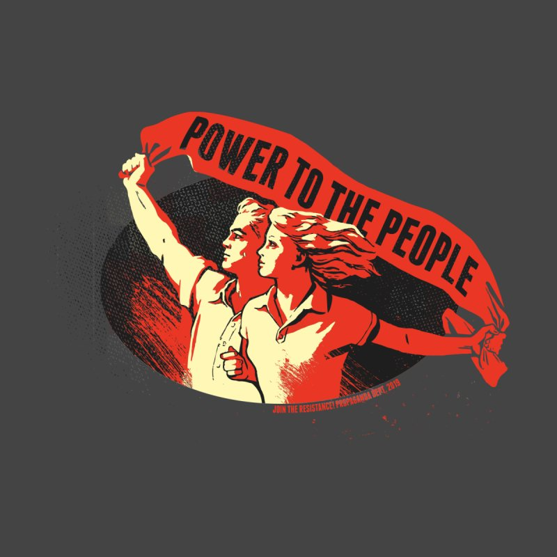 Power to the People Men's V-Neck by Propaganda Department