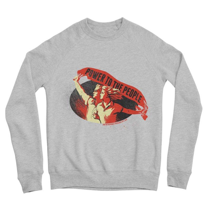 Power to the People Men's Sponge Fleece Sweatshirt by Propaganda Department