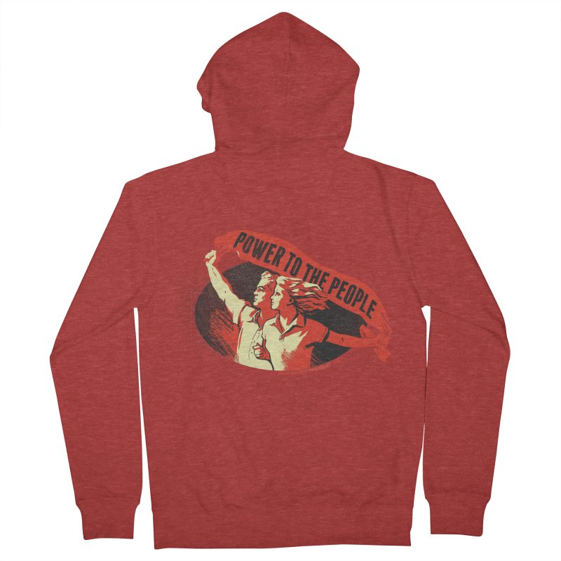 Power to the People Men's French Terry Zip-Up Hoody by Propaganda Department