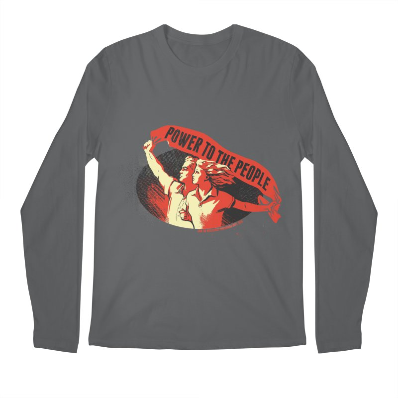 Power to the People Men's Longsleeve T-Shirt by Propaganda Department