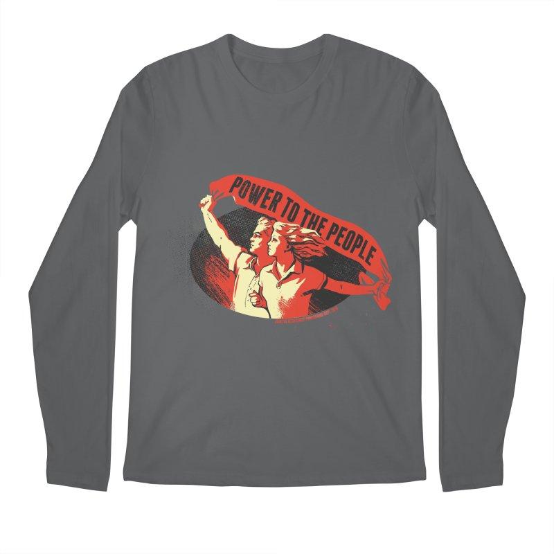 Power to the People Men's Regular Longsleeve T-Shirt by Propaganda Department