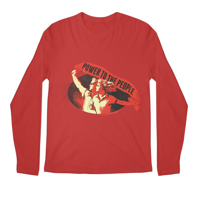 Power to the People Men's Regular Longsleeve T-Shirt by Propaganda Department