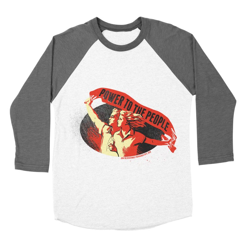 Power to the People Women's Baseball Triblend Longsleeve T-Shirt by Propaganda Department