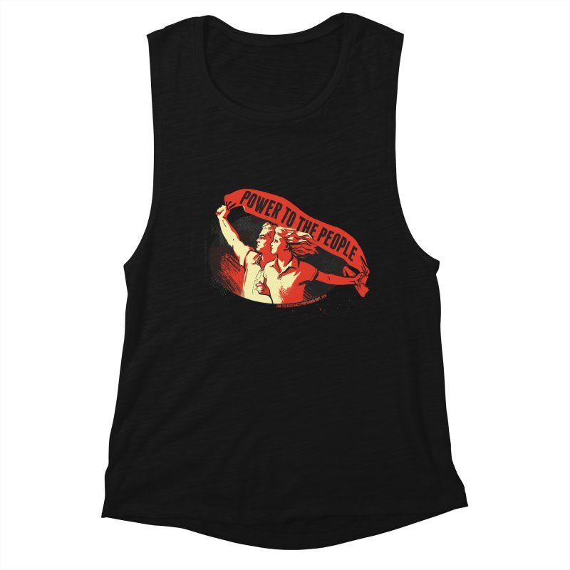 Power to the People Women's Tank by Propaganda Department