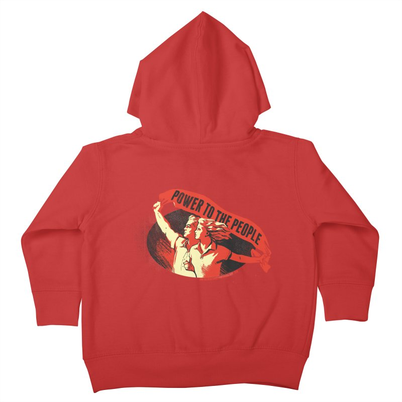 Power to the People Kids Toddler Zip-Up Hoody by Propaganda Department