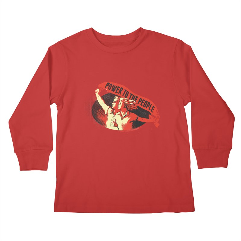 Power to the People Kids Longsleeve T-Shirt by Propaganda Department