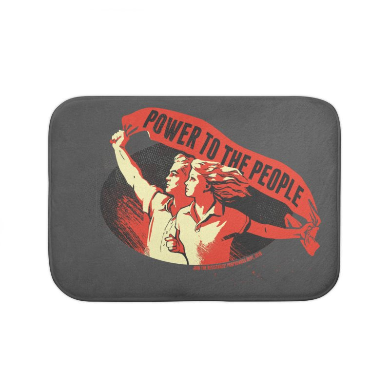 Power to the People Home Bath Mat by Propaganda Department