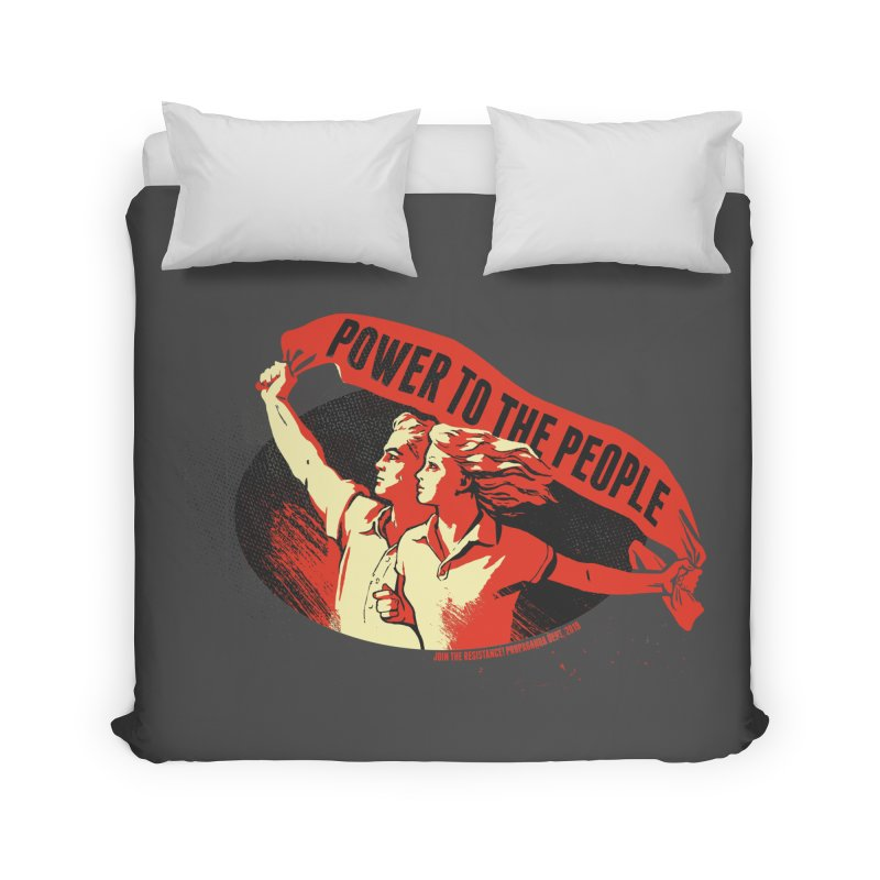 Power to the People Home Duvet by Propaganda Department