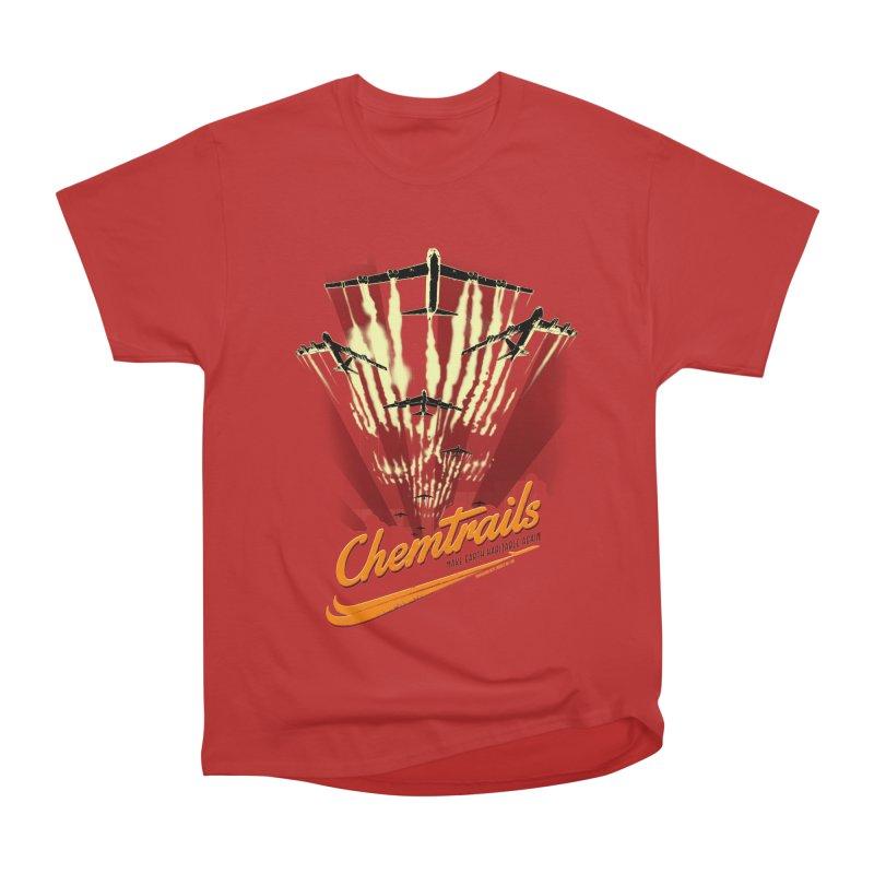 Chemtrails Women's Heavyweight Unisex T-Shirt by Propaganda Department