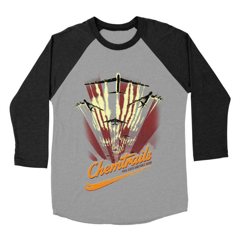 Chemtrails Men's Baseball Triblend Longsleeve T-Shirt by Propaganda Department