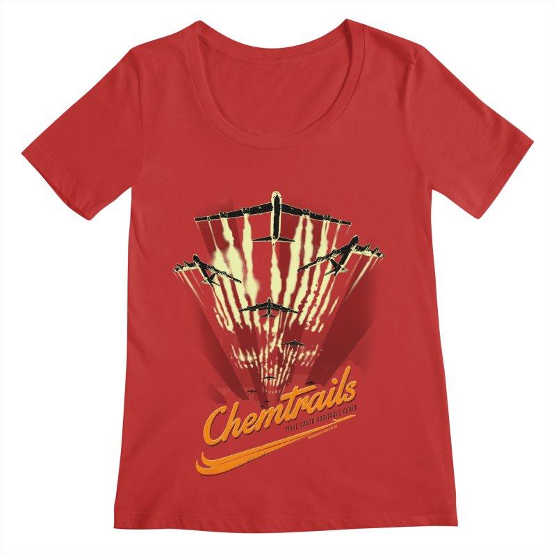 Chemtrails Women's Regular Scoop Neck by Propaganda Department