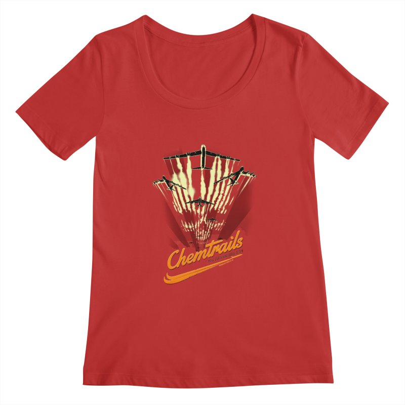 Chemtrails Women's Regular Scoop Neck by Propaganda Department