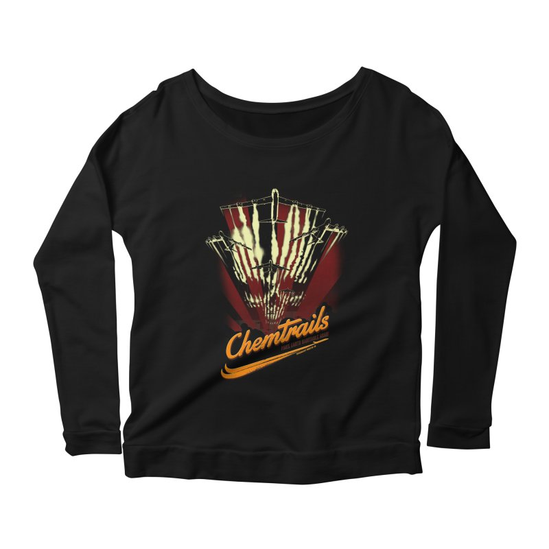 Chemtrails Women's Scoop Neck Longsleeve T-Shirt by Propaganda Department