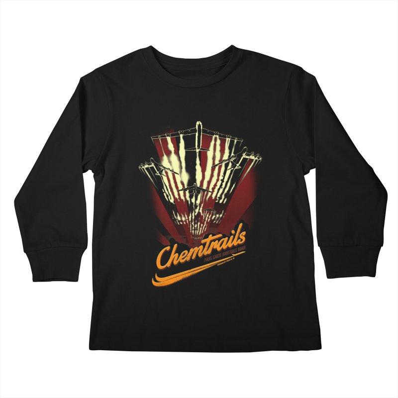 Chemtrails Kids Longsleeve T-Shirt by Propaganda Department