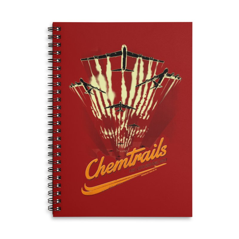 Chemtrails Accessories Lined Spiral Notebook by Propaganda Department