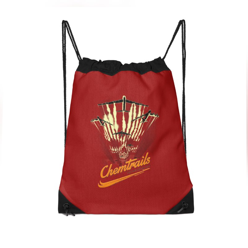 Chemtrails Accessories Drawstring Bag Bag by Propaganda Department