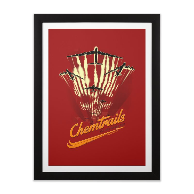 Chemtrails Home Framed Fine Art Print by Propaganda Department