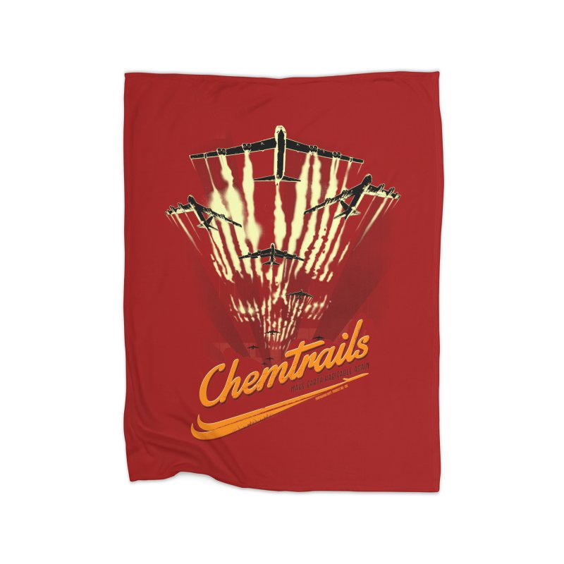 Chemtrails Home Fleece Blanket Blanket by Propaganda Department