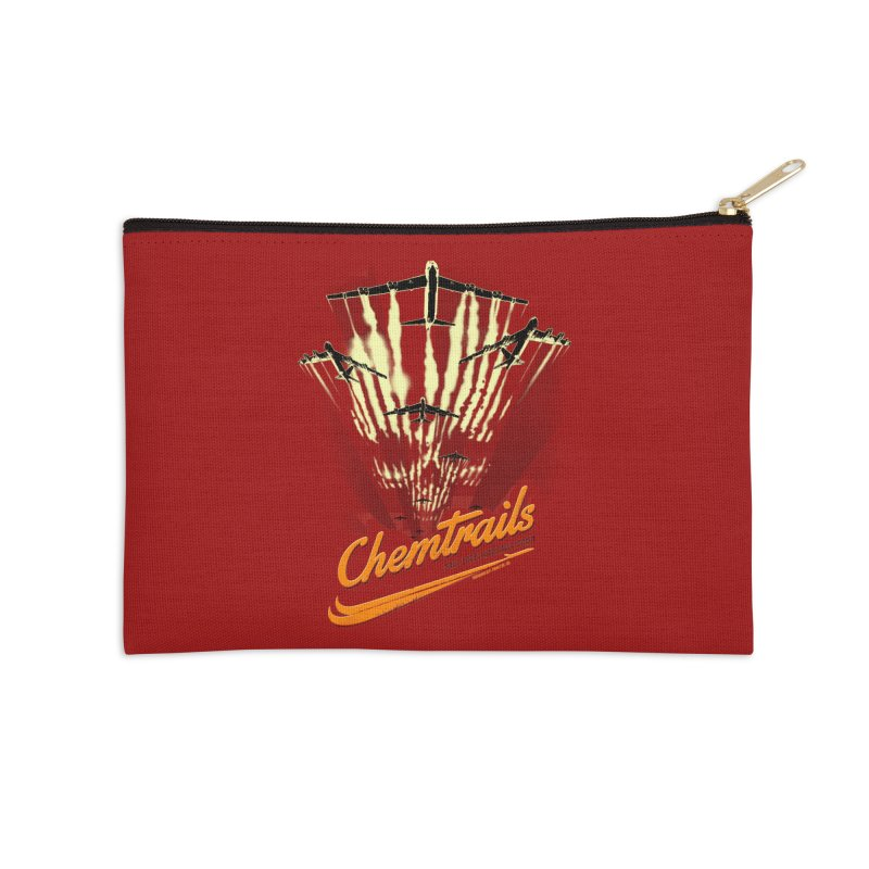 Chemtrails Accessories Zip Pouch by Propaganda Department