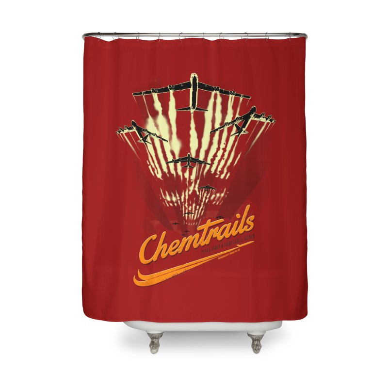 Chemtrails Home Shower Curtain by Propaganda Department