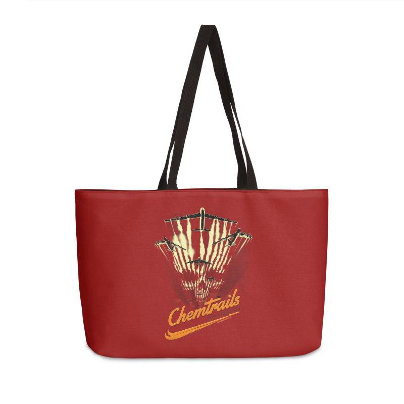 Chemtrails Accessories Weekender Bag Bag by Propaganda Department