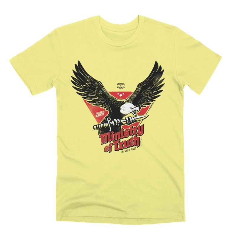 Ministry of Truth Men's Premium T-Shirt by Propaganda Department