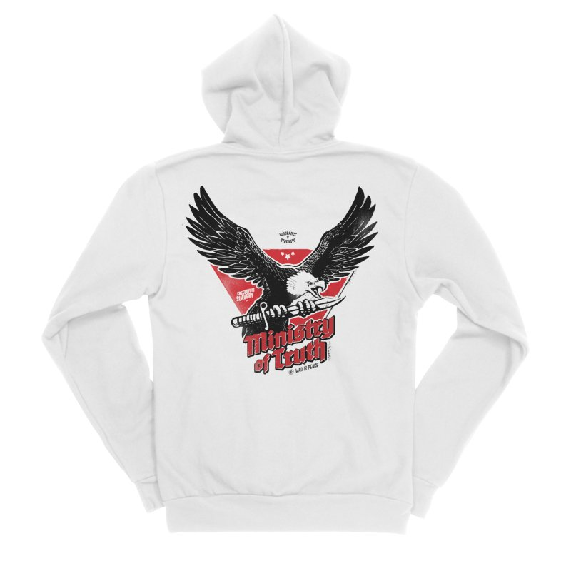 Ministry of Truth Men's Zip-Up Hoody by Propaganda Department