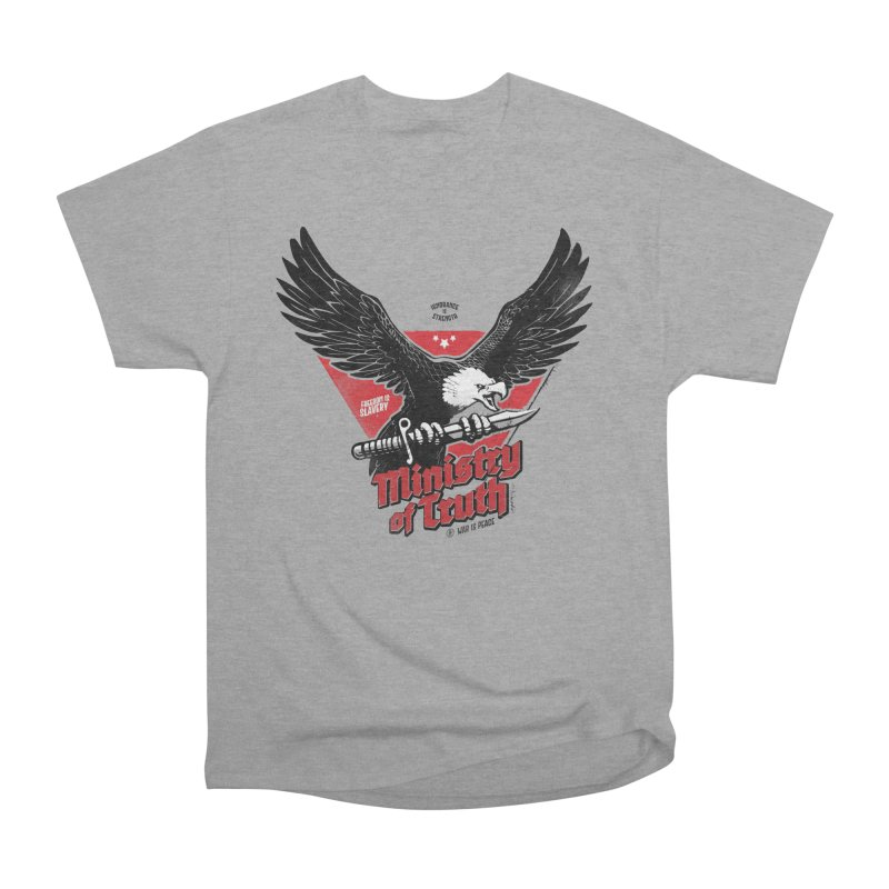 Ministry of Truth Men's Heavyweight T-Shirt by Propaganda Department