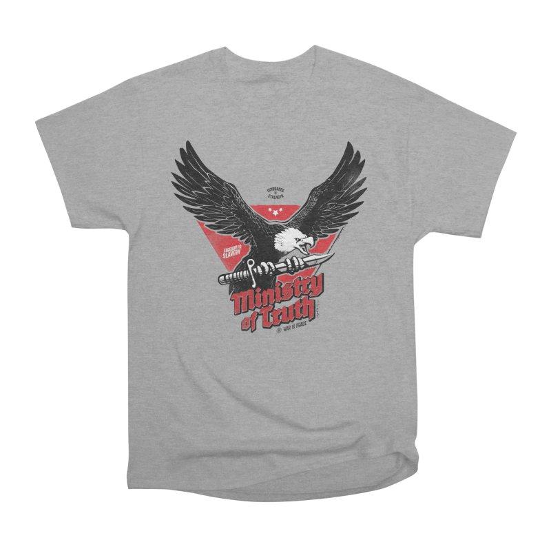 Ministry of Truth Women's Heavyweight Unisex T-Shirt by Propaganda Department