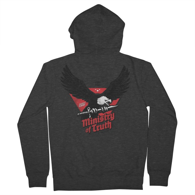 Ministry of Truth Men's French Terry Zip-Up Hoody by Propaganda Department