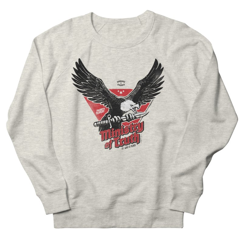 Ministry of Truth Women's French Terry Sweatshirt by Propaganda Department