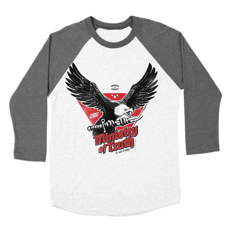 Ministry of Truth Men's Baseball Triblend Longsleeve T-Shirt by Propaganda Department