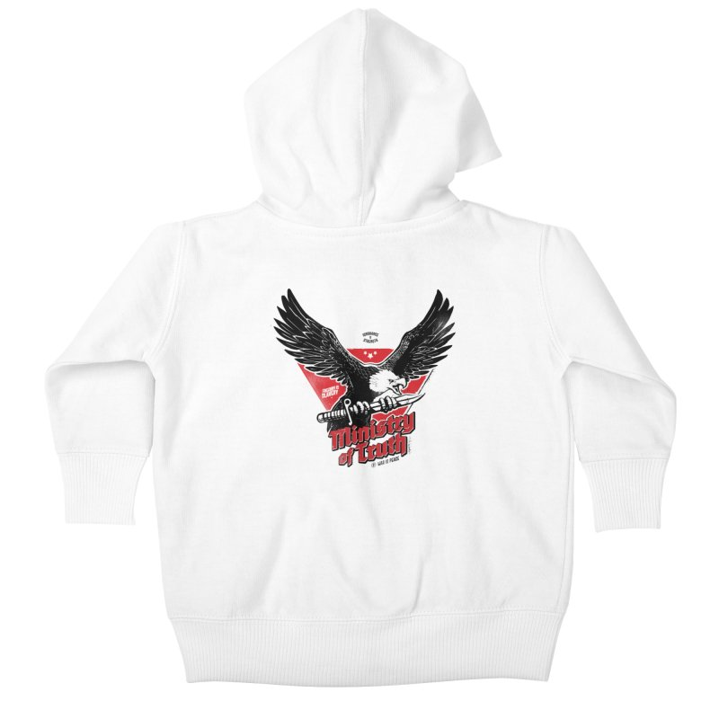 Ministry of Truth Kids Baby Zip-Up Hoody by Propaganda Department