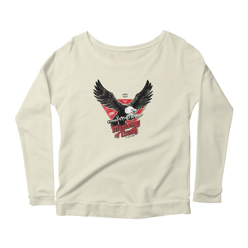 Ministry of Truth Women's Scoop Neck Longsleeve T-Shirt by Propaganda Department