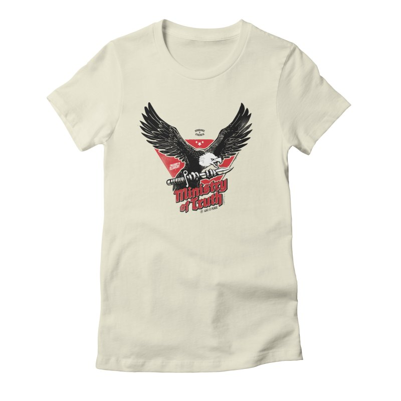 Ministry of Truth Women's Fitted T-Shirt by Propaganda Department