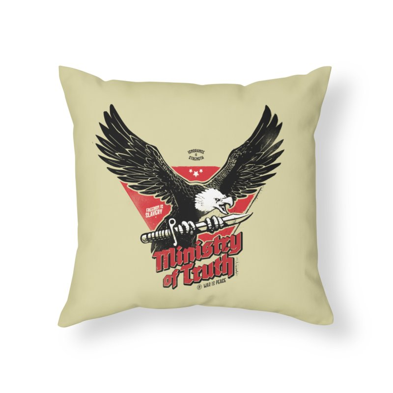 Ministry of Truth Home Throw Pillow by Propaganda Department