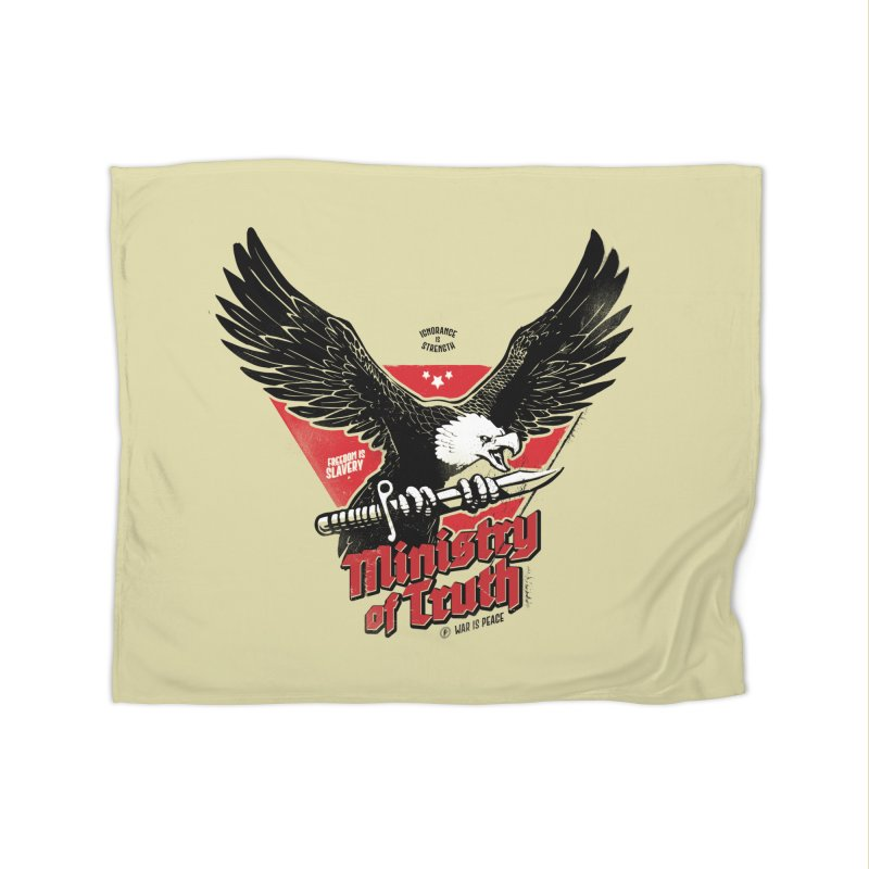 Ministry of Truth Home Fleece Blanket Blanket by Propaganda Department