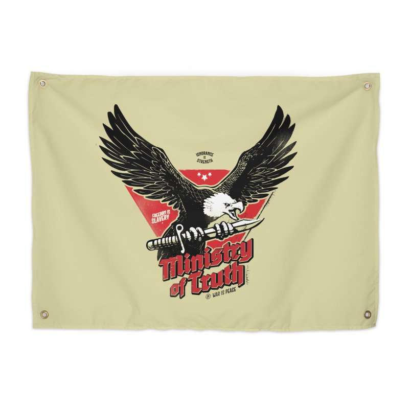 Ministry of Truth Home Tapestry by Propaganda Department