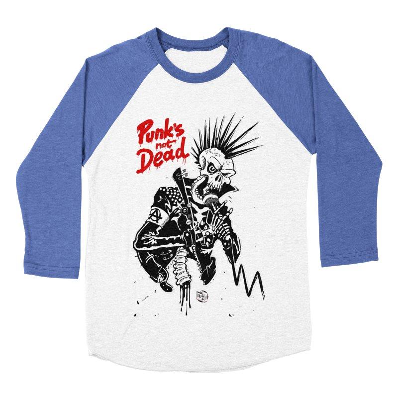 Punk is Not Dead Women's Baseball Triblend T-Shirt by Propaganda Department
