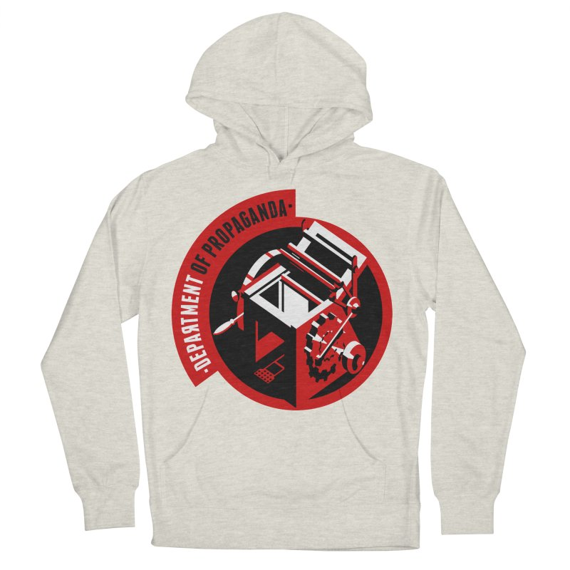 Department of Propaganda Printing Press Women's French Terry Pullover Hoody by Propaganda Department