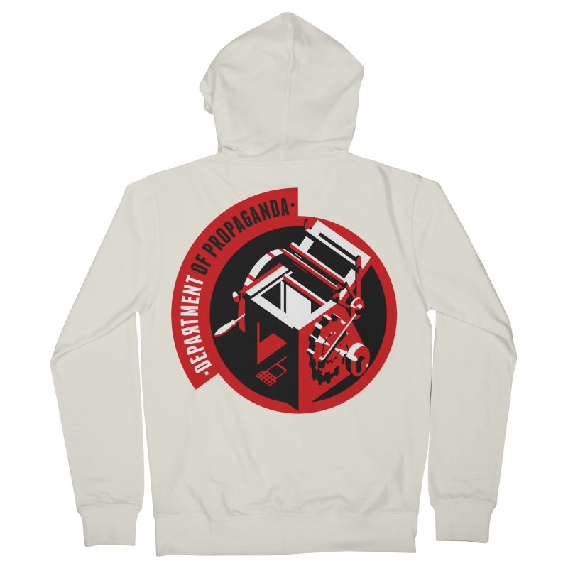 Department of Propaganda Printing Press Women's French Terry Zip-Up Hoody by Propaganda Department