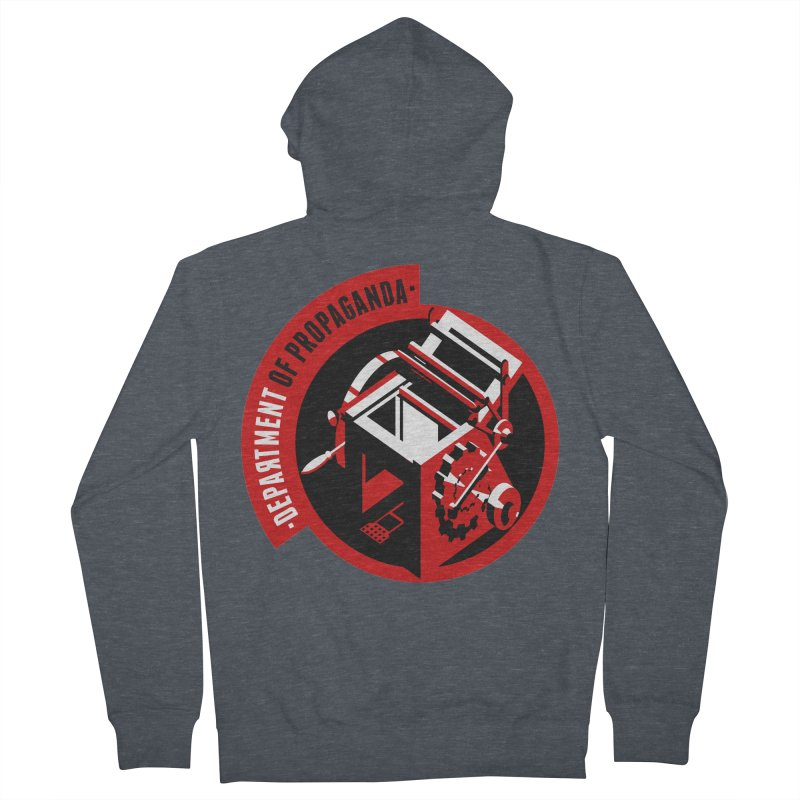 Department of Propaganda Printing Press Men's Zip-Up Hoody by Propaganda Department