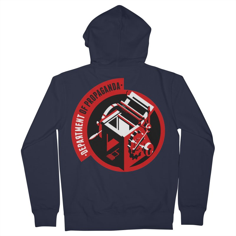 Department of Propaganda Printing Press Men's French Terry Zip-Up Hoody by Propaganda Department